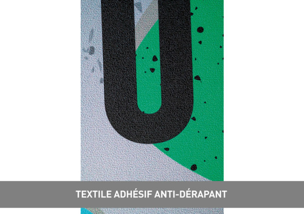 Textile adhésif anti dérapant
