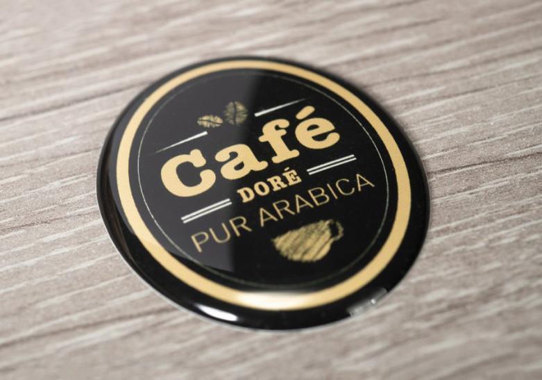 Sticker Etiquette Doming personnalisation objet