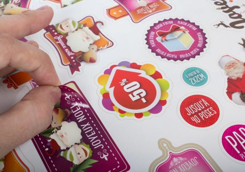 Sticker Etiquette Sticker en planche
