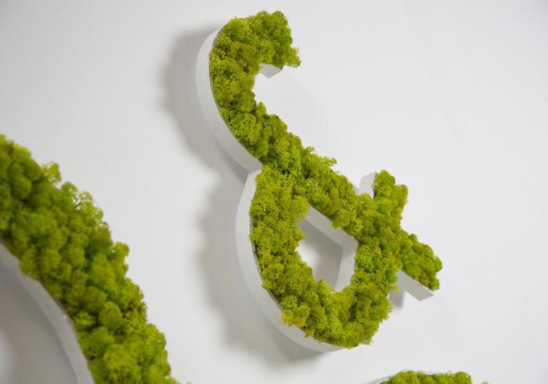 Lettre et Logo Vegetal naturel sur PVC