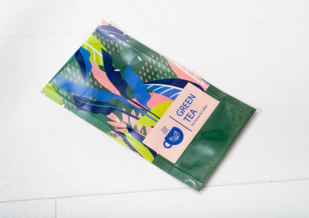 Packaging flexible doypack 10 cl té verde