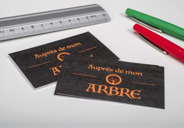 Carte papier bois
