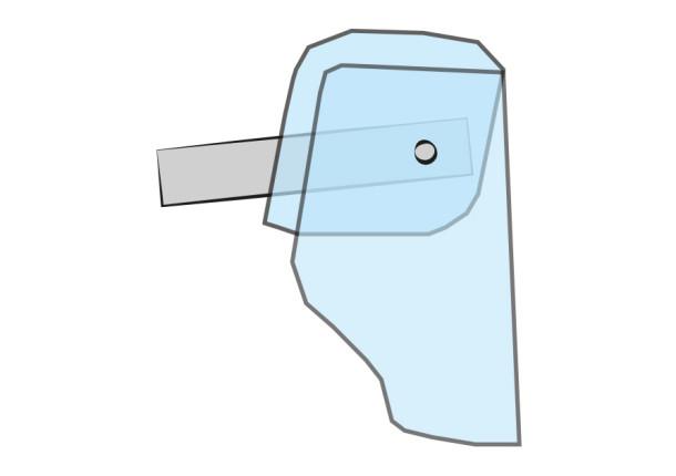 Imagen visera protectora facial y de cabeza