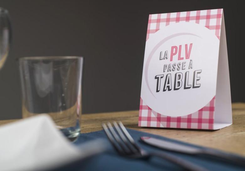 Restauración PLV de mesa