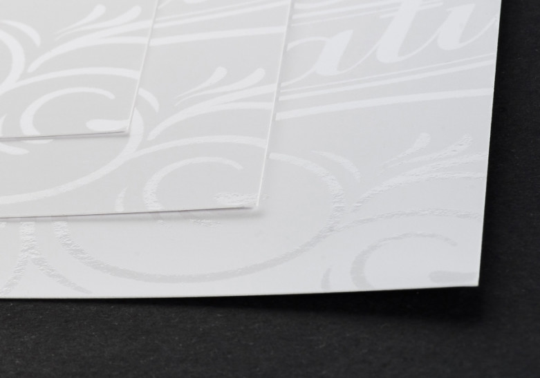 Carte Vernis selectif sans impression zoom