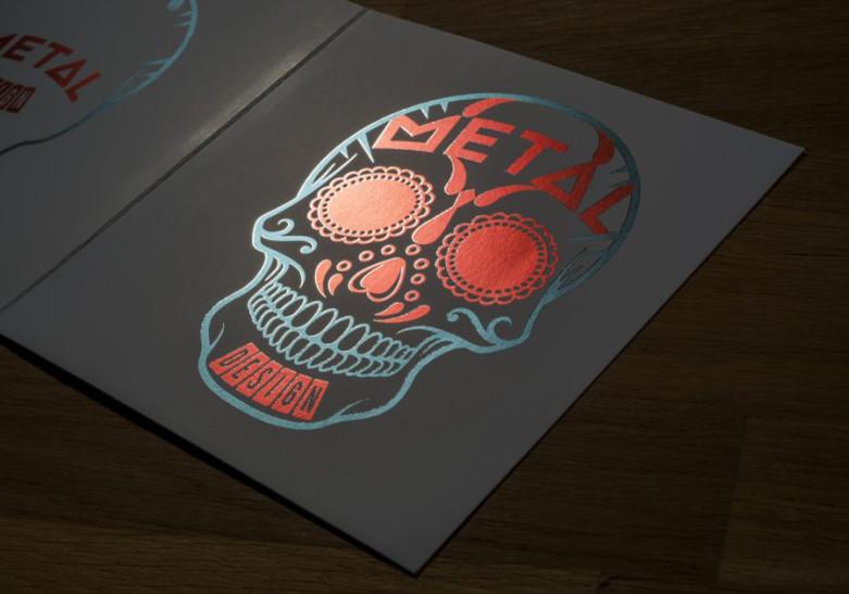 Carte Metal Design 2 volets 2