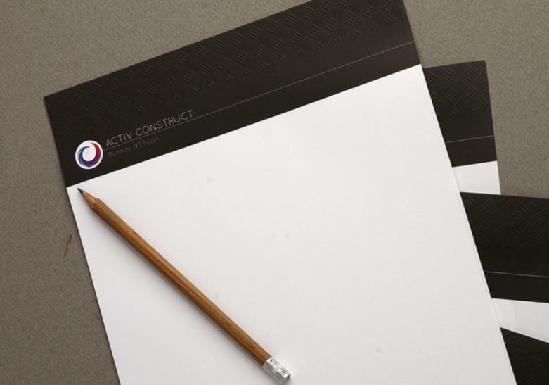 Papeterie Tete de lettre gaufree