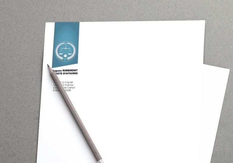 Papeterie Tete de lettre recyclee