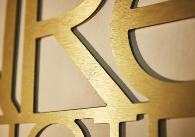 Lettre et Logo Aluminium or ou argent