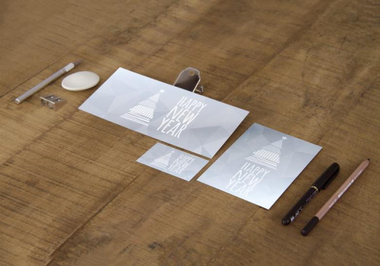 Carte papier metallise argent