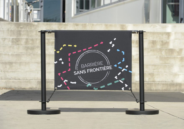 Signaletique barriere terrasse