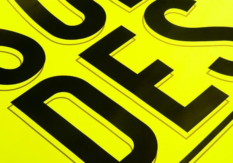 Affiche Fluo jaune