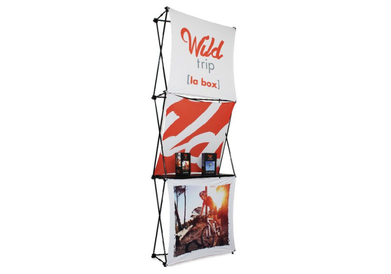 Salon Evenement Stand multiface 3 visuels