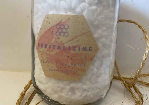 Étiquette papier fibres vegetales sur bocal