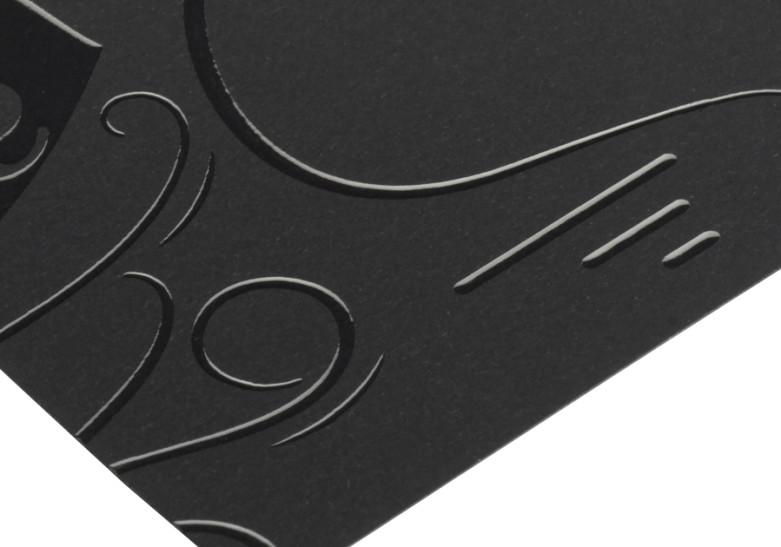 Carte Vernis 3D sans impression zoom