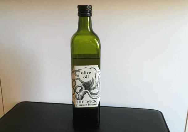 Botella de aceite 120g Papel impermeable texturado blanco