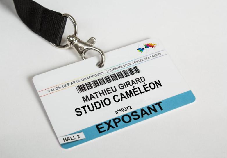 Salon Evenement badge PVC