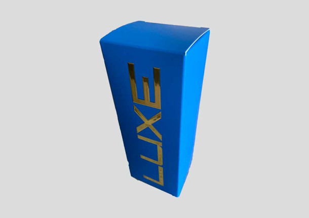 Boîte standard avec dorure base rectangle