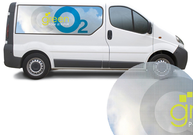 Signaletique adhesif vinyle habillage vehicule