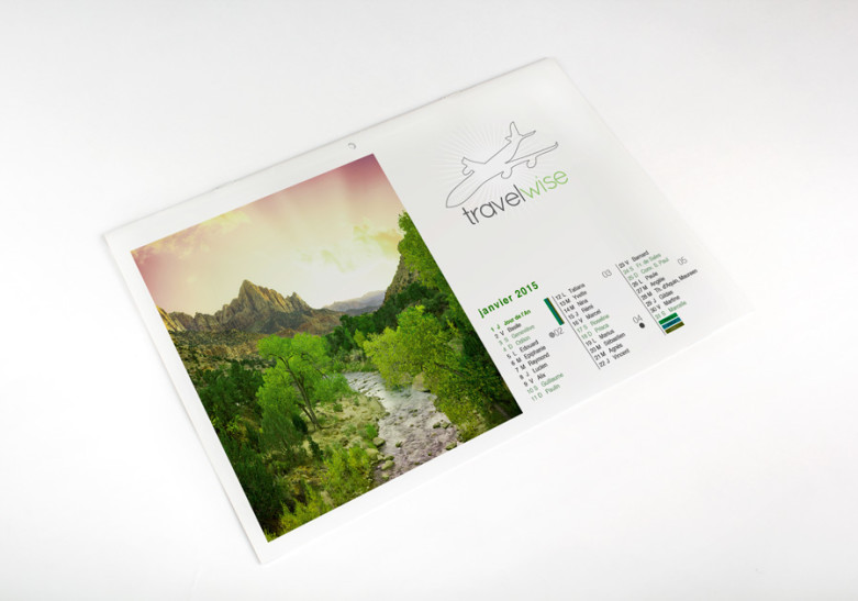 Calendrier Pique perfore 24x32