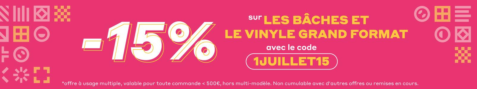 -15% sur les bâches et le vinyle grand format sur Exaprint.fr