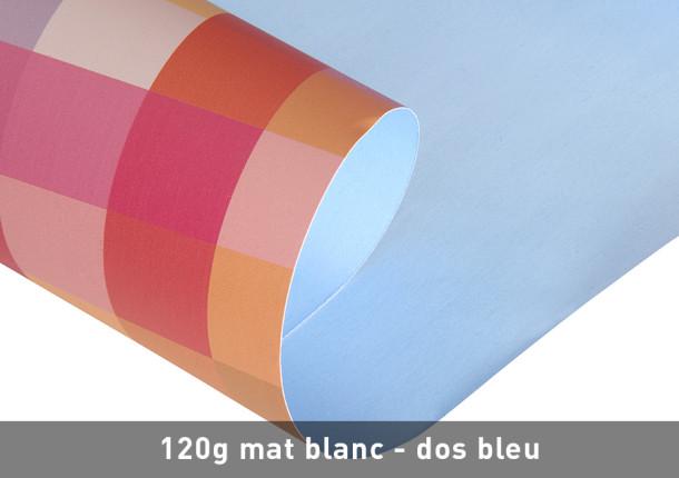 Impression haute qualité d'affiche avec dos bleu
