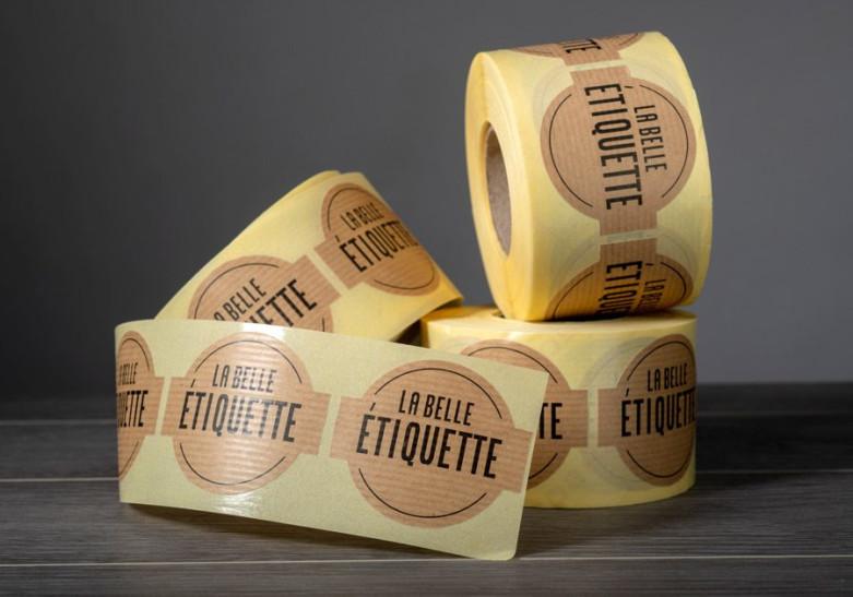 Sticker Etiquette Etiquette en rouleau