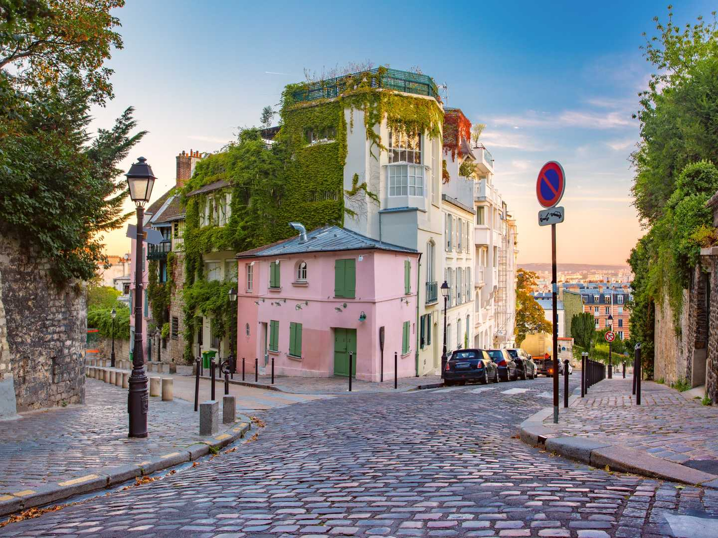 Discover thee beautiful cobbled streets of Paris, pictured here, on a France tour