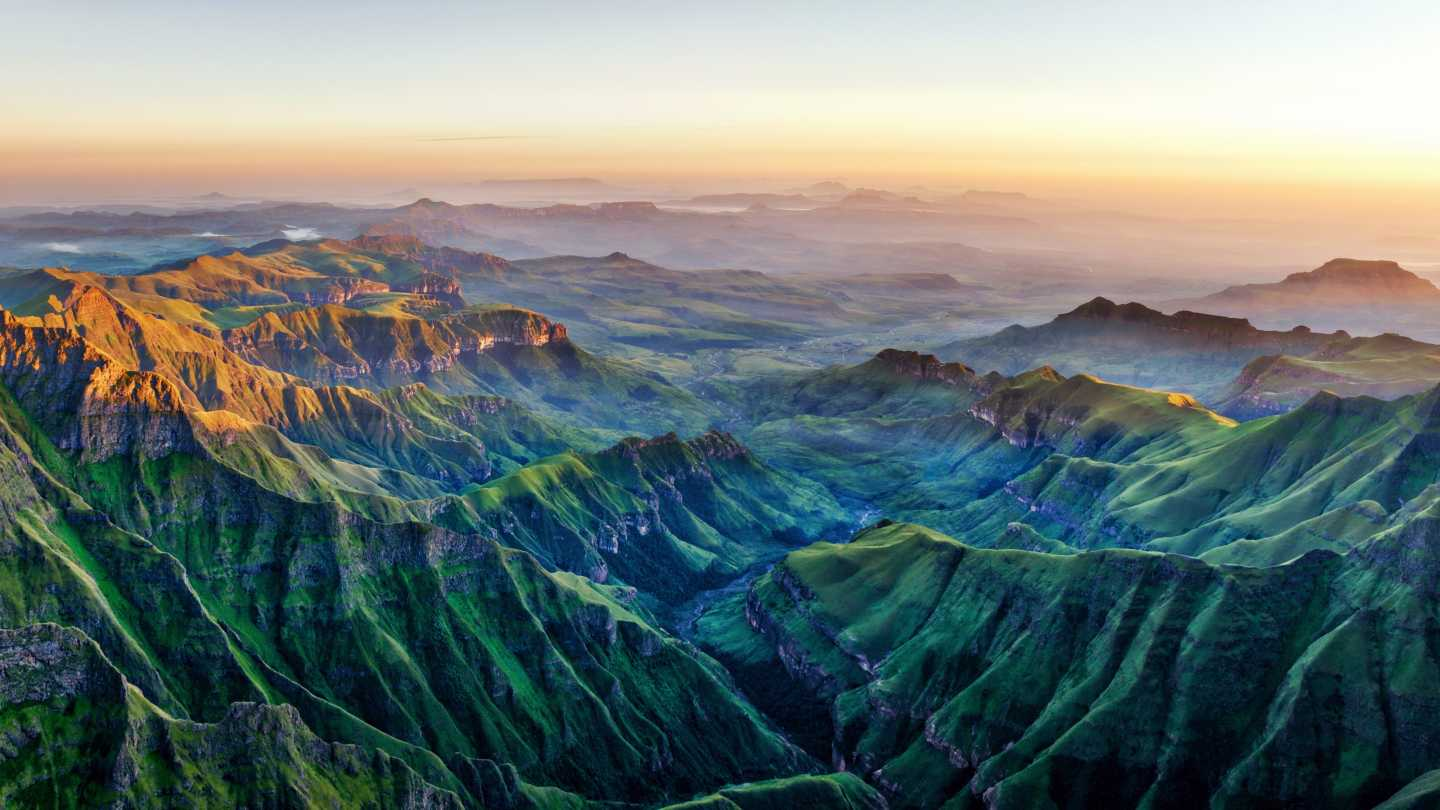 Amphitheatre in Drakensberg mountains South Africa near Lesotho