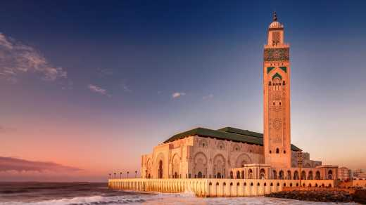 The Hassan II. Mosque in Casablanca Morocco