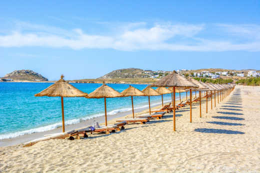 See beautiful beaches on a Mykonos vacation