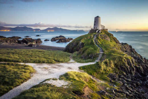 Discover the beautiful rugged Welsh coastline, pictured here, on a Wales vacation