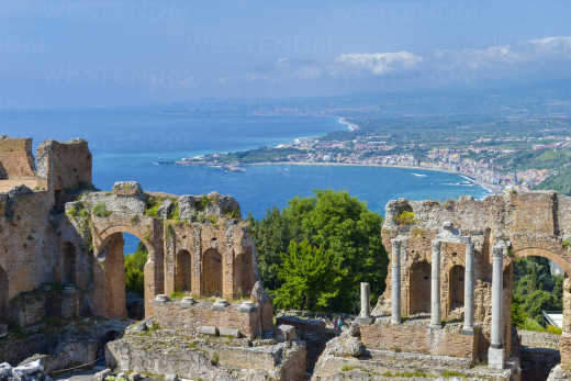 Experience ruins in Taormina vacation in Sicily