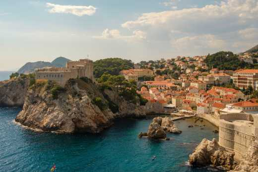 View of the bay of Dubrovnik in Croatia - a must on a Croatia round trip.