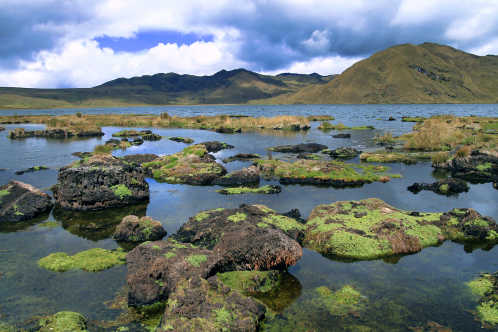 Discover the beautiful mountains of water of Cajas National Park, pictured here, on an Ecuador tour