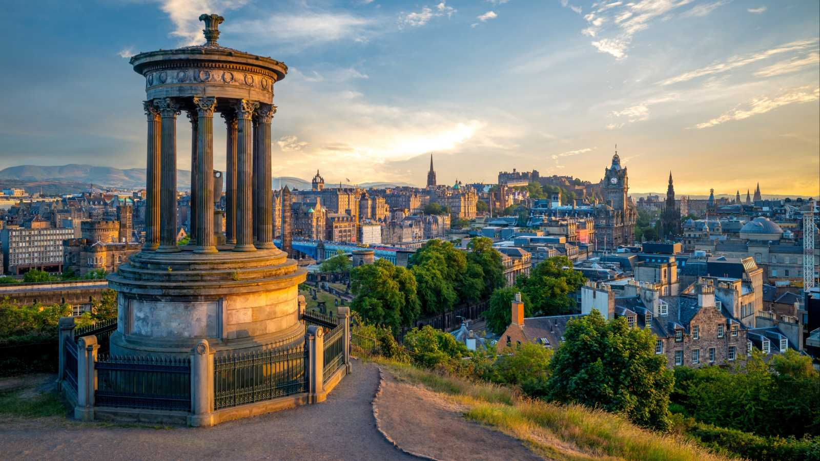 Visit the National Monument in Edinburgh, pictured here, on an Edinburgh vacation