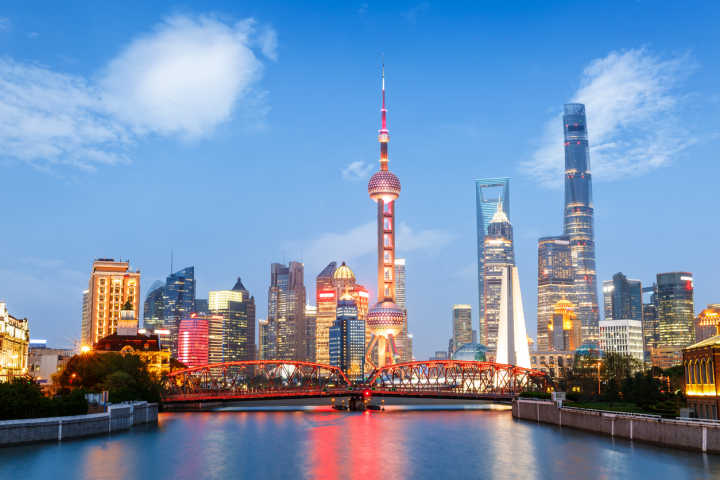 Pictured here is the impressive architecture of Shanghai, a city that has transformed in recent years