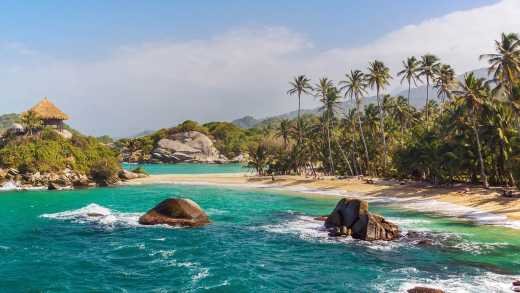 Het Tayrona National Park in Colombia