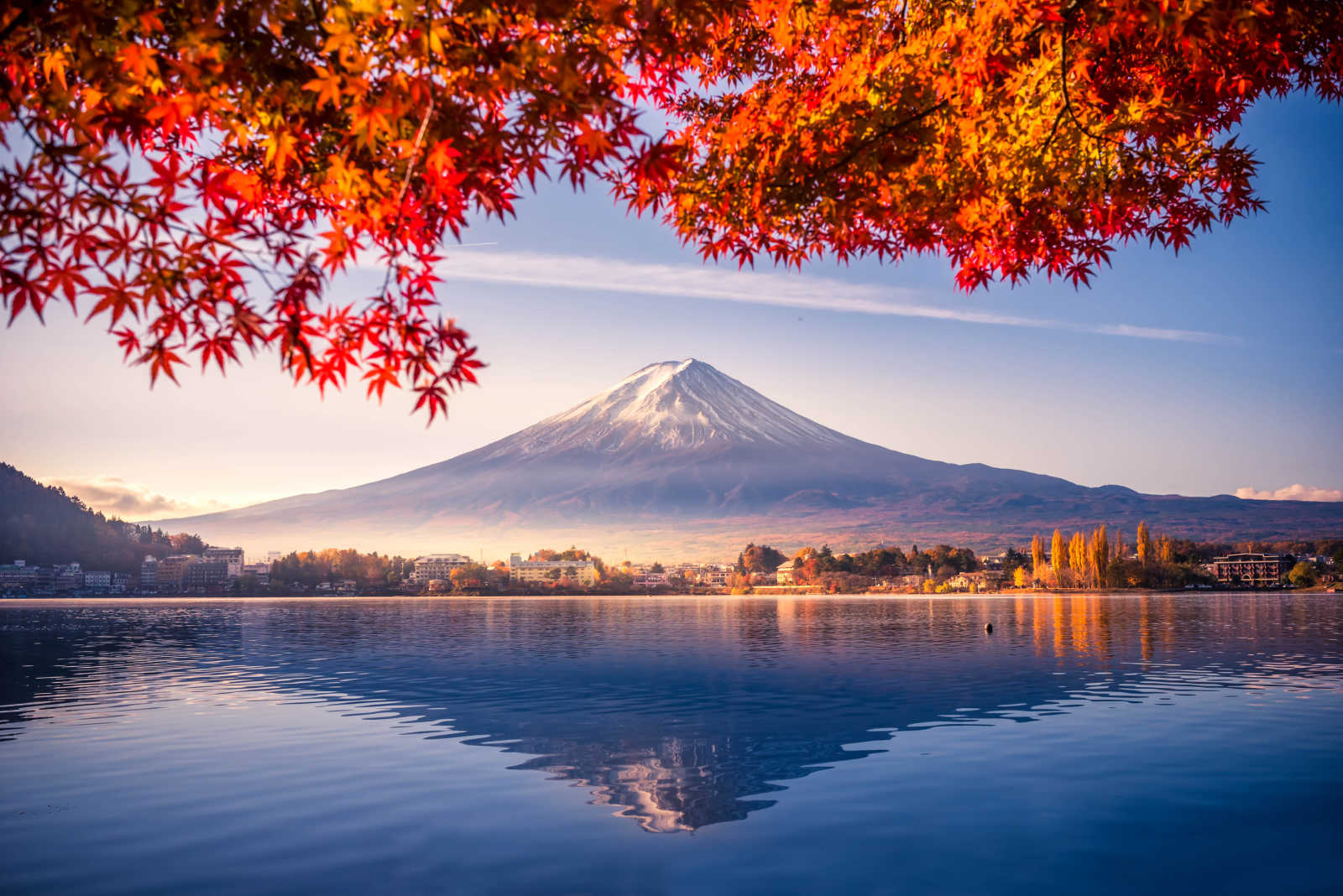 Zicht op de Herfstberg Fuji in Japan, China