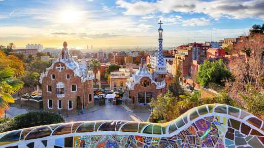 Parc Guell in Barcelona Spain