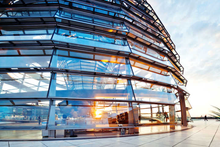 See stunning beautiful architecture, like Sir Norman Foster's Reichstag Dome pictured here, on a tour of Germany