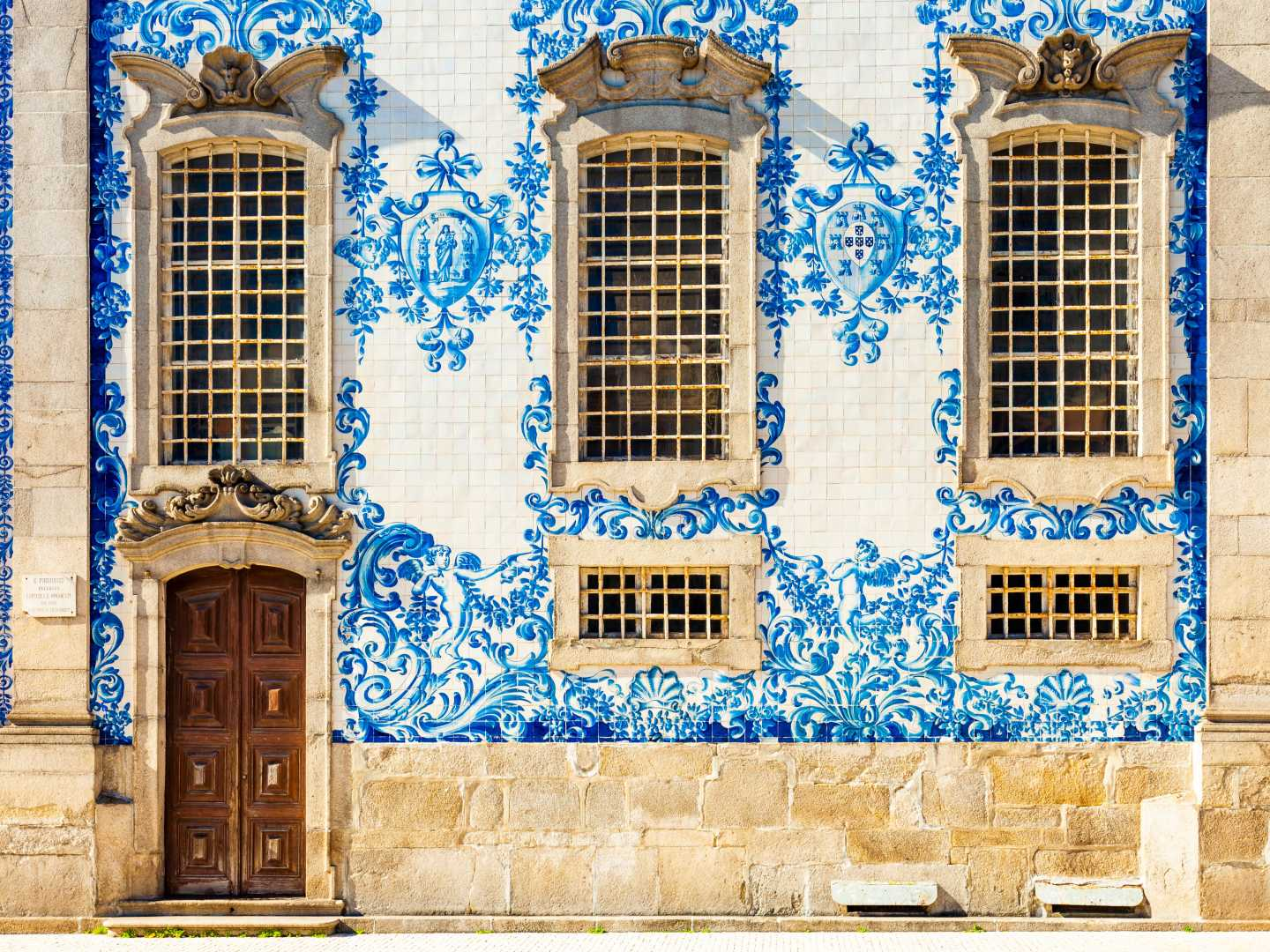 Europe, Portugal, tiled walls of a city