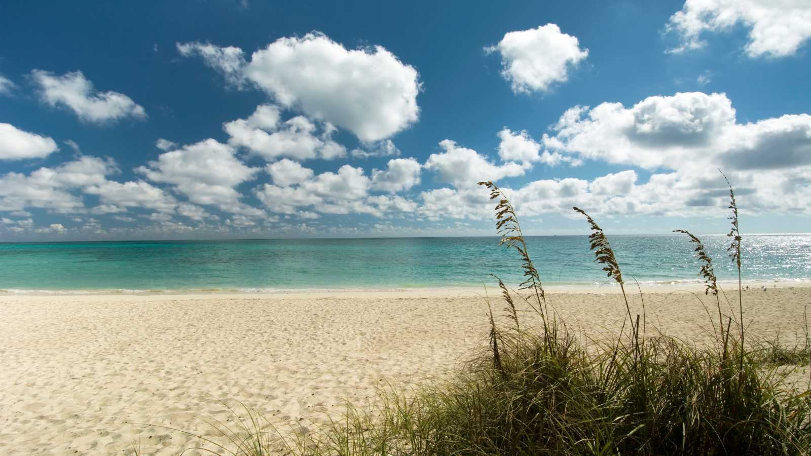 Freeport Beach auf Grand Bahama Island