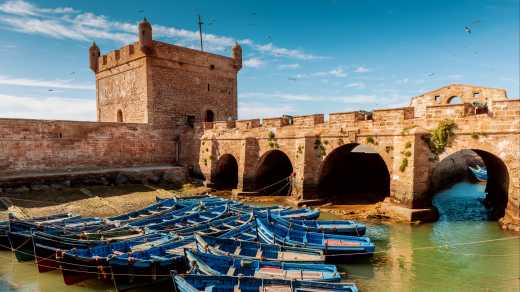 The port of Essaouira in Morocco