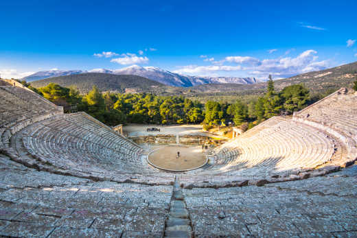 The ancient theater of Epidaurus (or