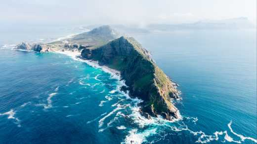 Aerial view of Cape Town