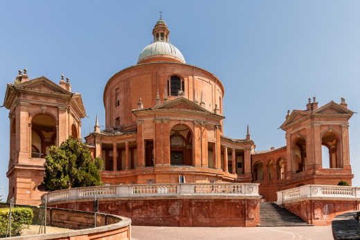 View of the Madonna di San Luca - a must on a trip to Bologna