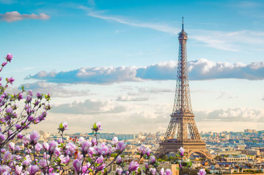 Discover the famous Eiffel Tower and the city of Paris on a tour of France