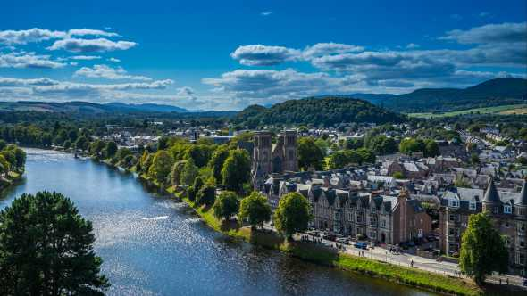 Discover the city of Inverness, pictured here from above, on a Scottish tour