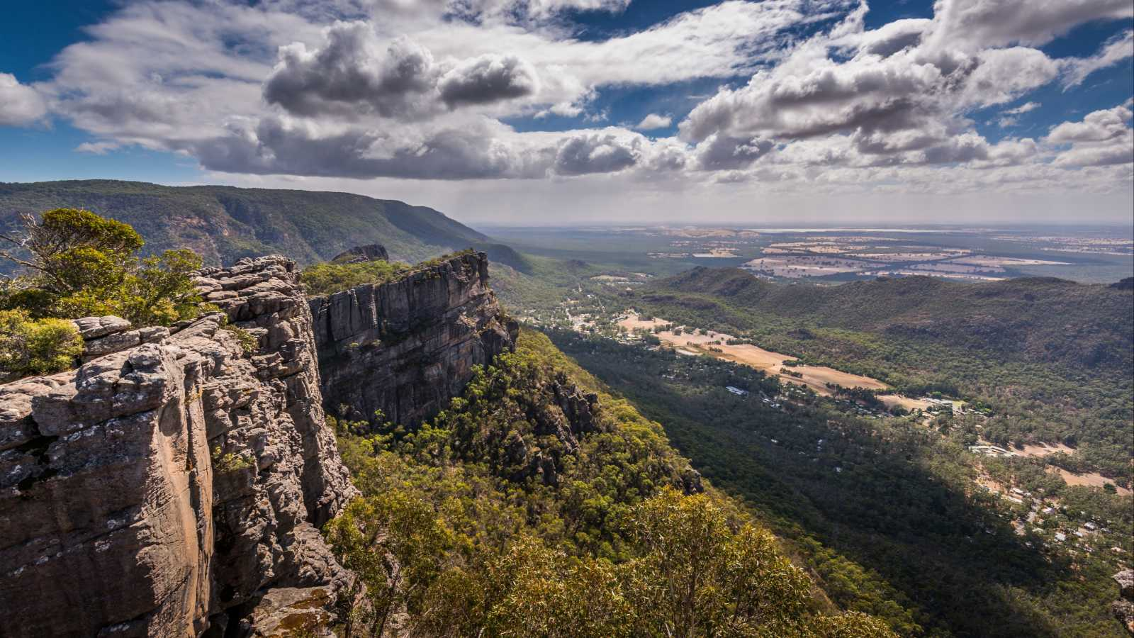 Blick vom Pinnacles Lookout im Grampians Nationalpark in Australien